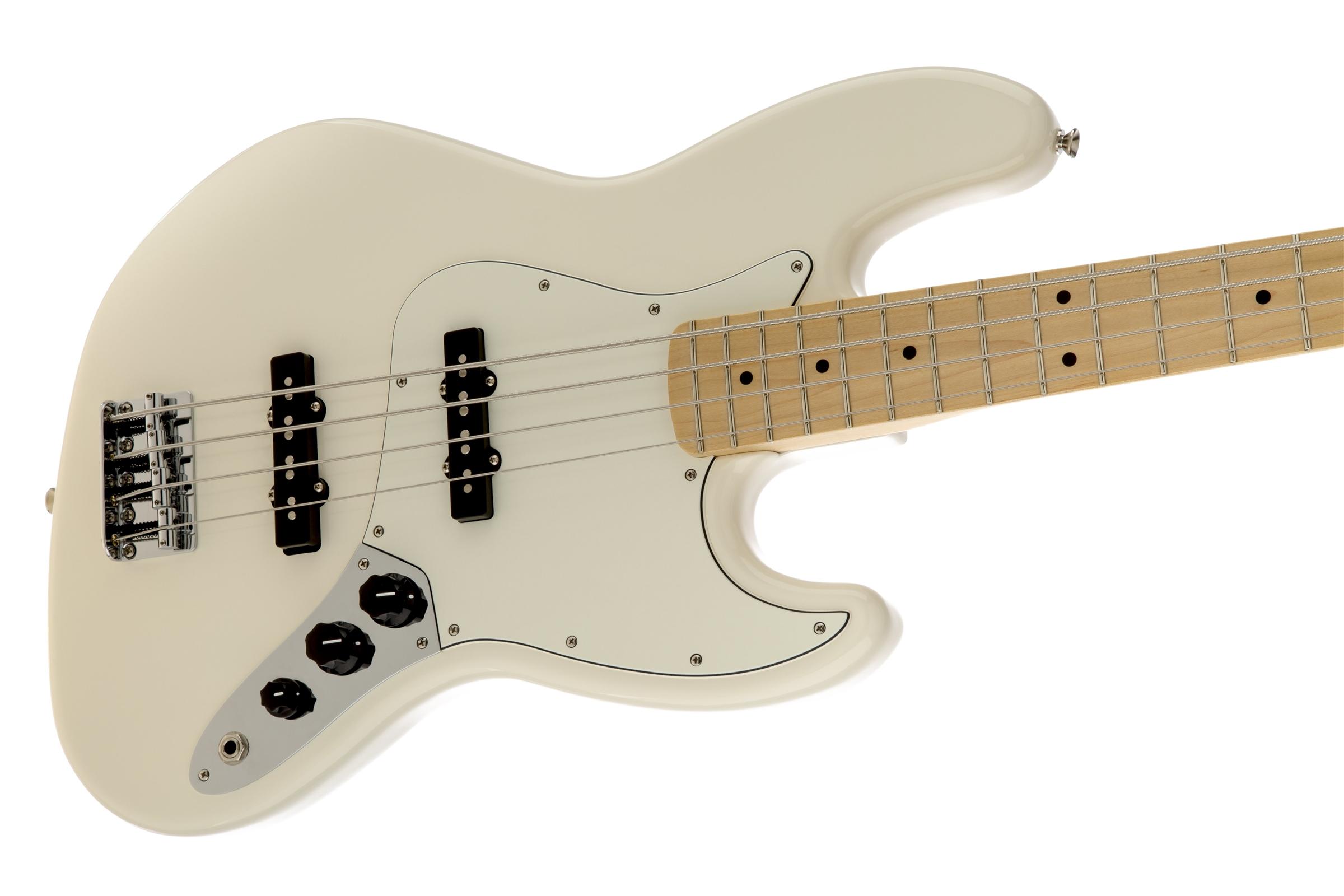 Fender Standard Jazz Bass® Arctic White Maple Fingerboard Electric Bass Guitar