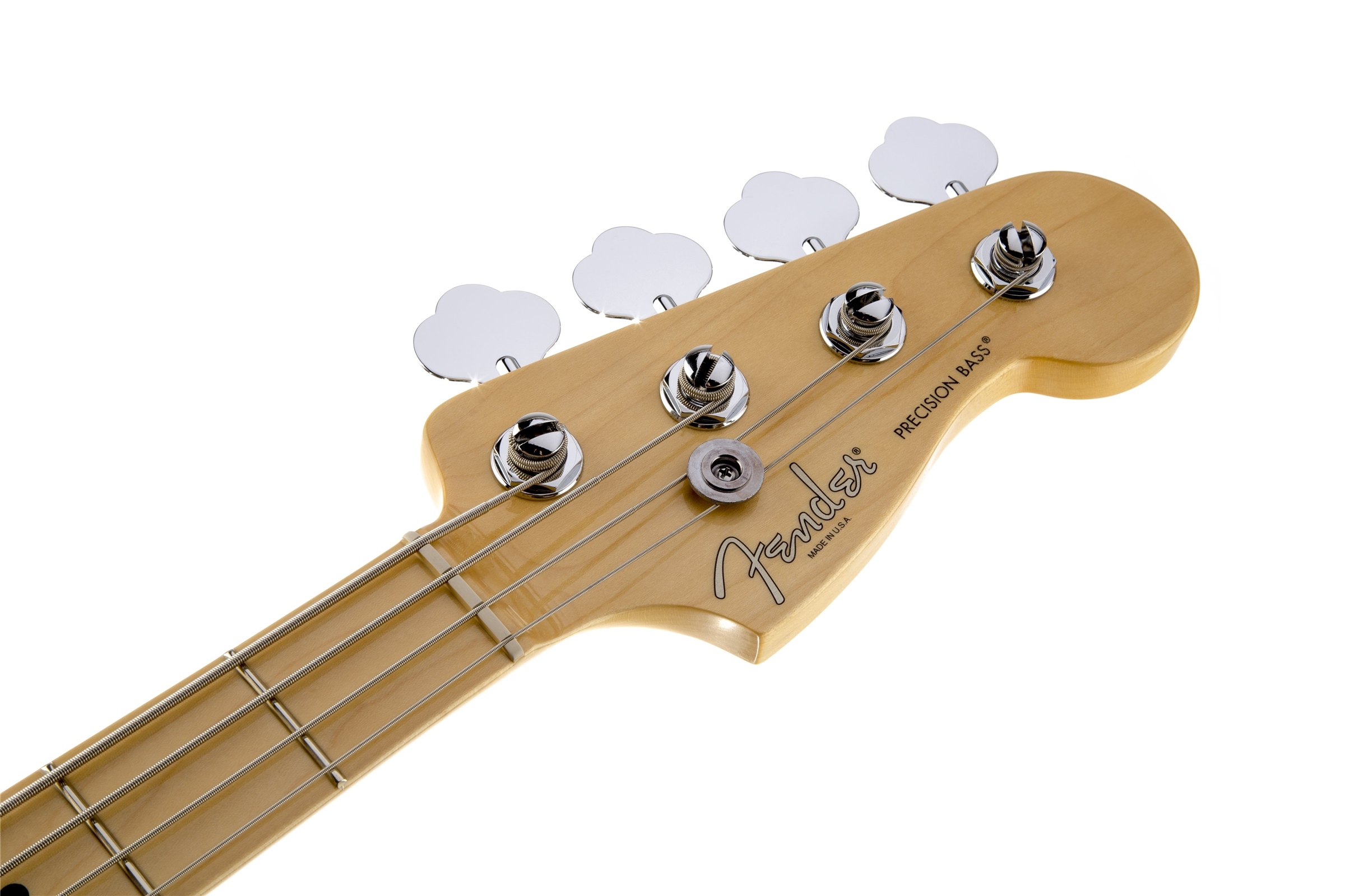 Fender American Standard Precision Bass® Olympic White Maple Fingerboard Electric Bass Guitar
