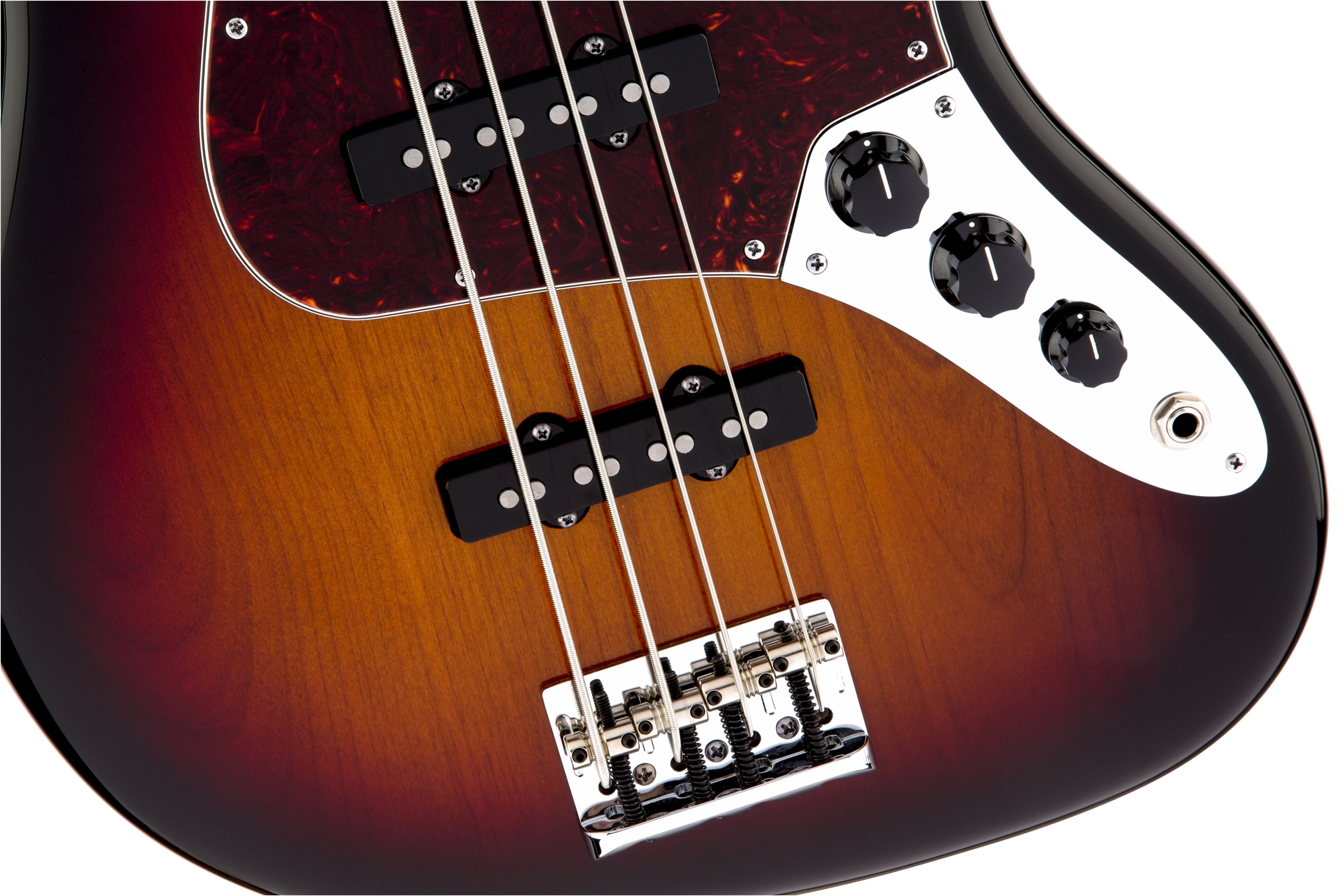 Fender American Standard Jazz Bass® 3-Color Sunburst Maple Fingerboard Electric Bass Guitar