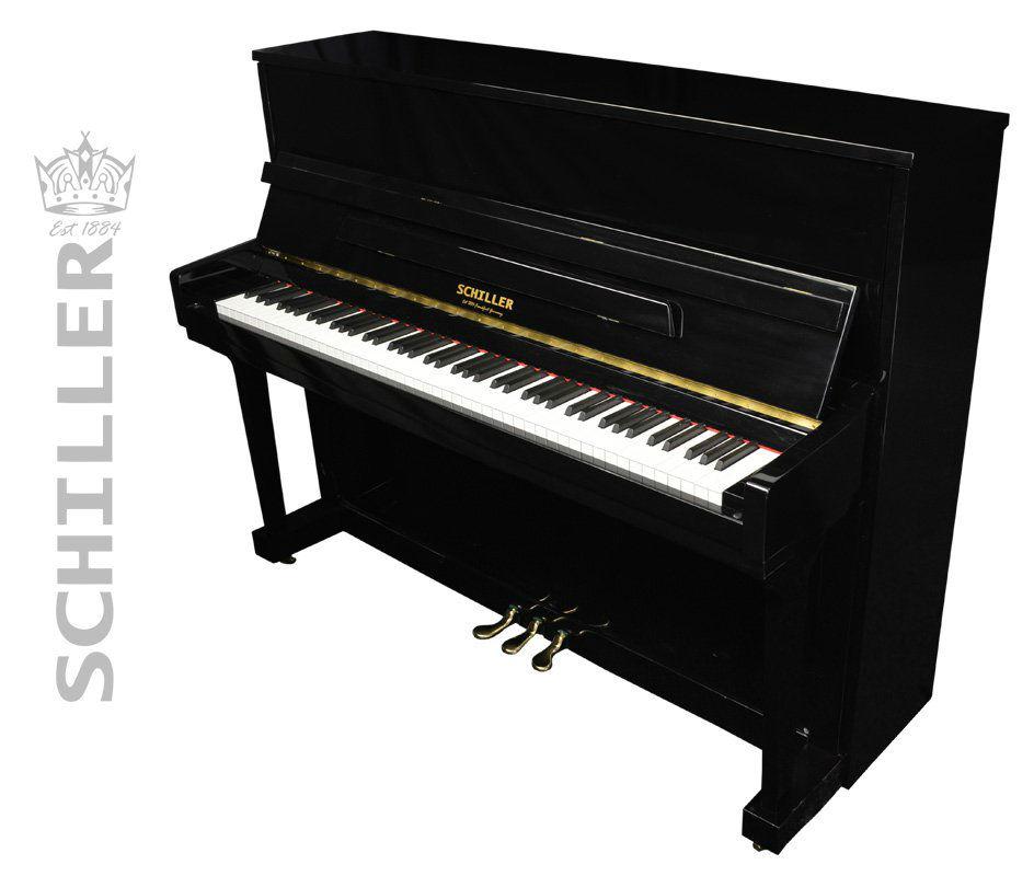 Schiller Performance Frankfurt Upright Piano - Ebony Polish