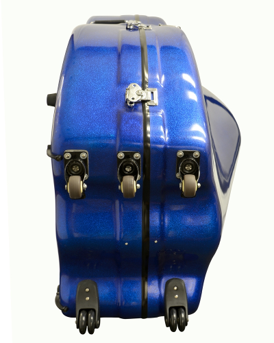 Enthral II Bass Case Blue Sparkle Polish