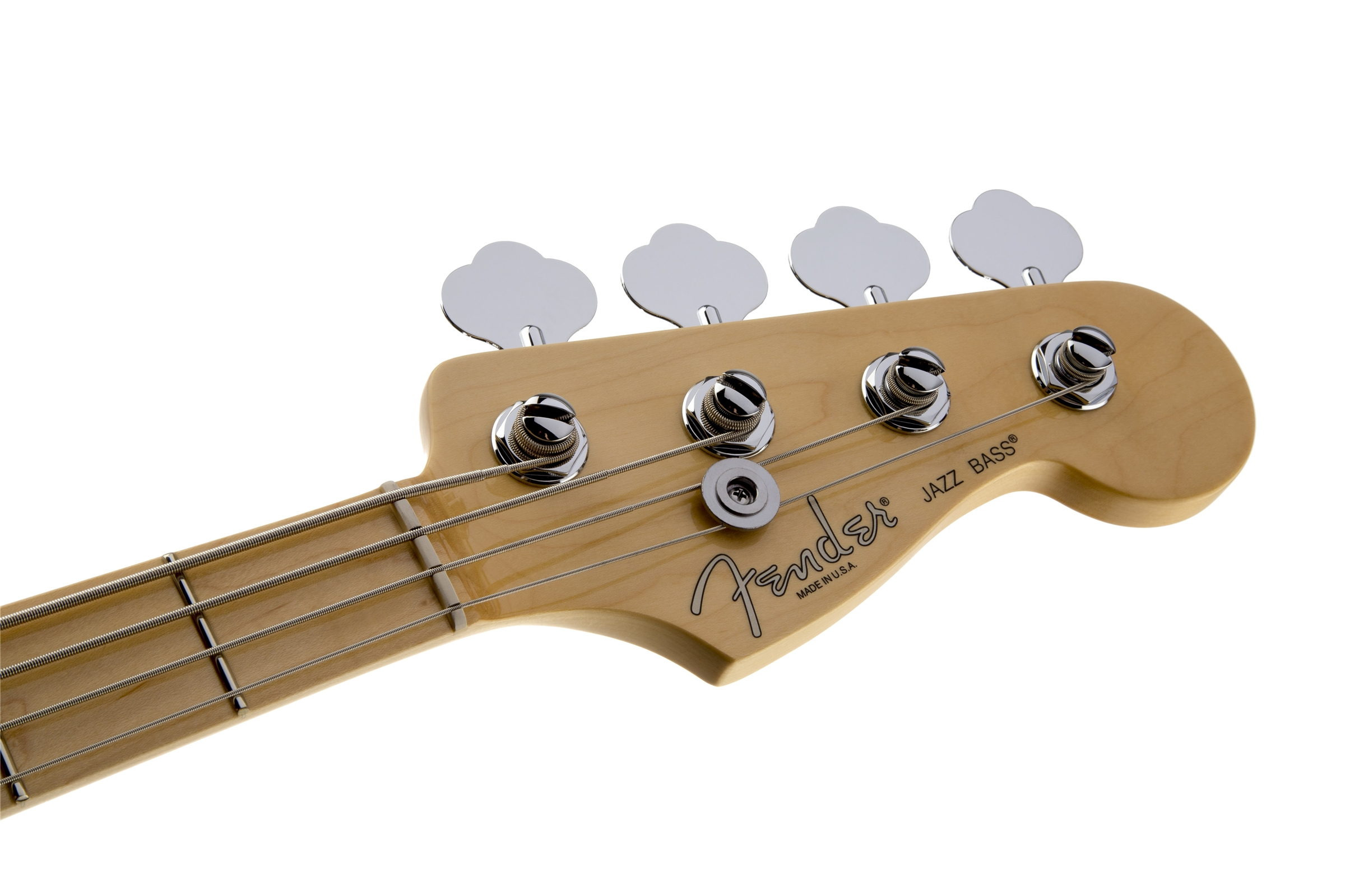 Fender American Standard Jazz Bass® Olympic White Maple Fingerboard Electric Bass Guitar