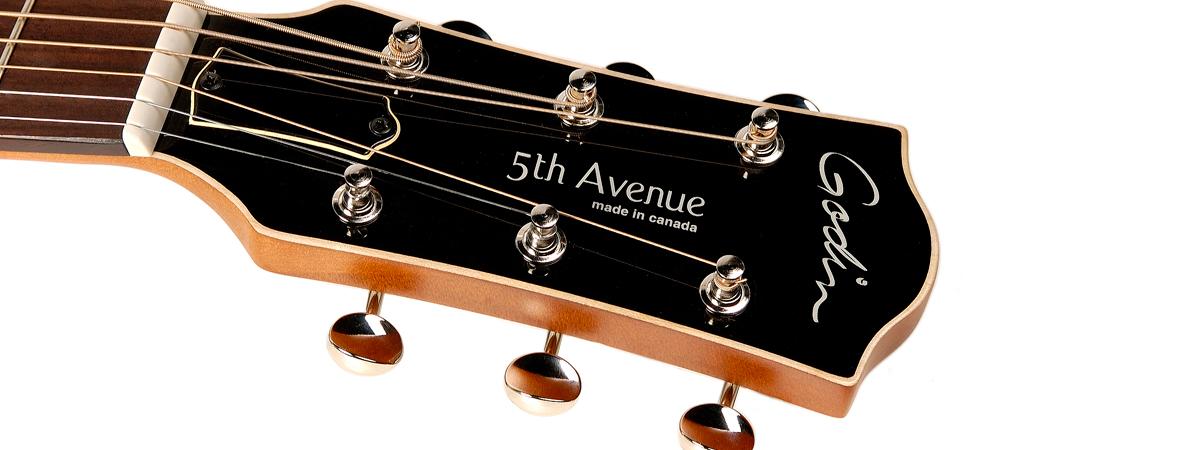 Godin 5th Avenue Cognac Burst Archtop Semi-Hollow Acoustic Guitar