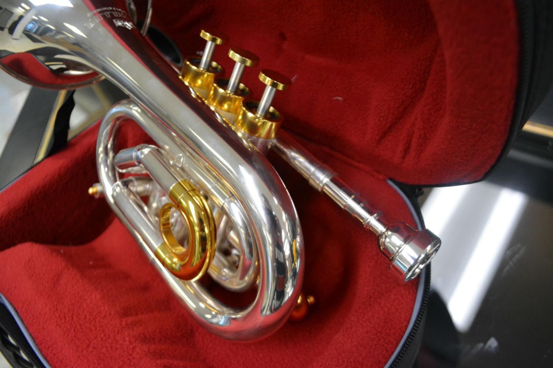 Floor Demo Schiller CenterTone Pocket Bb Trumpet - Silver & Gold Plated