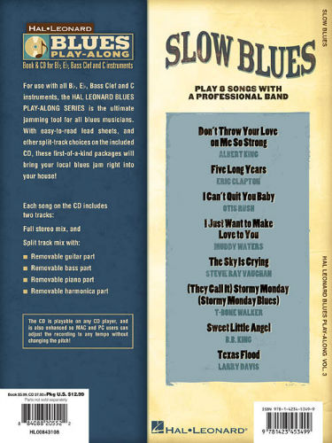 Slow Blues - Blues Play-Along Volume 3 - Blues Play-Along Series - Jim  Laabs Music Store