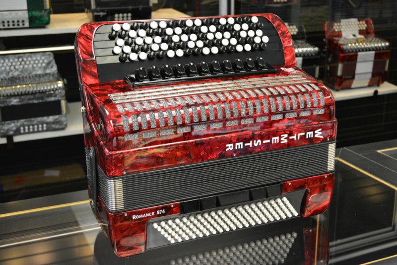 Welmeister Romance 874 Chromatic Accordion - Red Marble