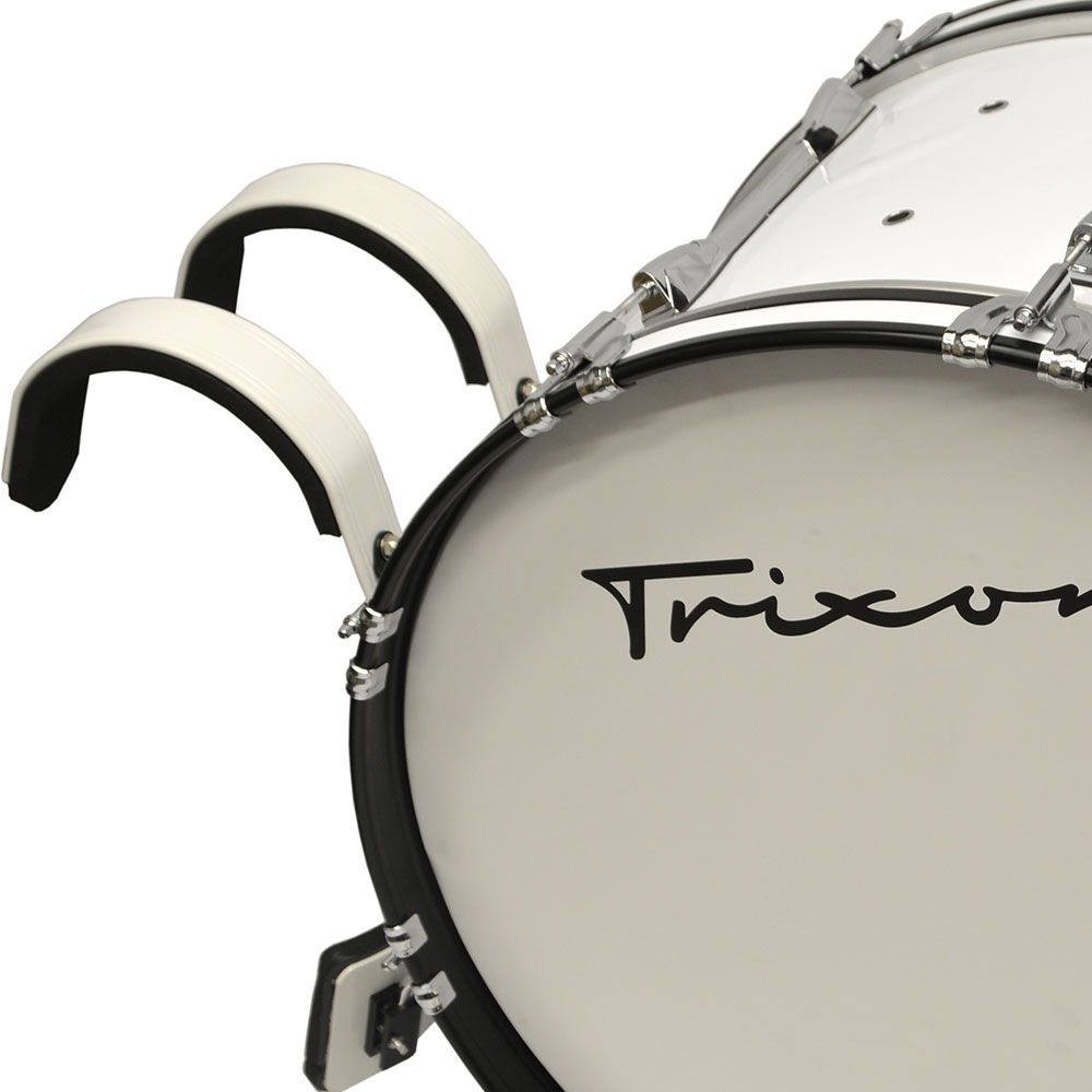 Trixon Pro Marching Bass Drum 18x14 white