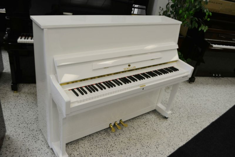 Schiller Performance Frankfurt Upright Piano 46″ White Polish
