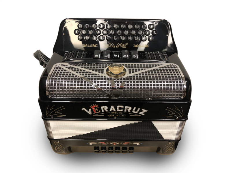 Veracruz Super Italian Special Edition 5 Switch Button Accordion Black
