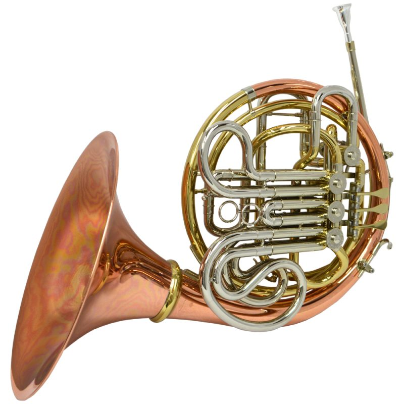 Schiller American Elite VI (A) French Horn w/ Detachable Bell - Rose, Gold and Nickel