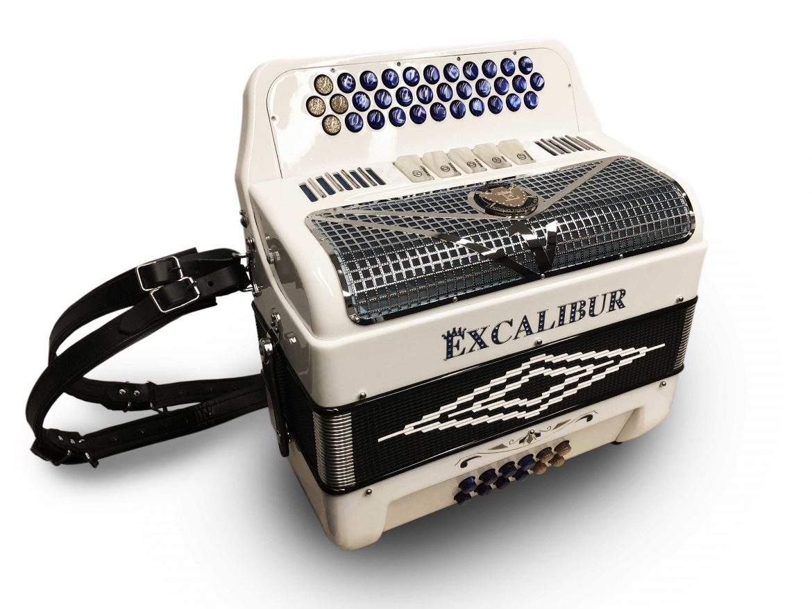 Excalibur Super Classic 5 Switch Button Accordion White