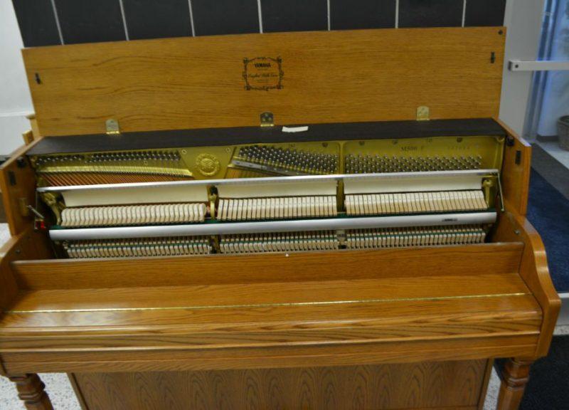 Yamaha Upright Piano Contemporary Oak - Pre-Owned