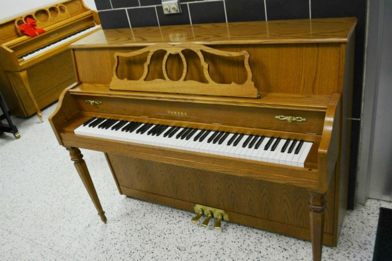 Yamaha Upright Piano Contemporary Oak - Pre-Owned