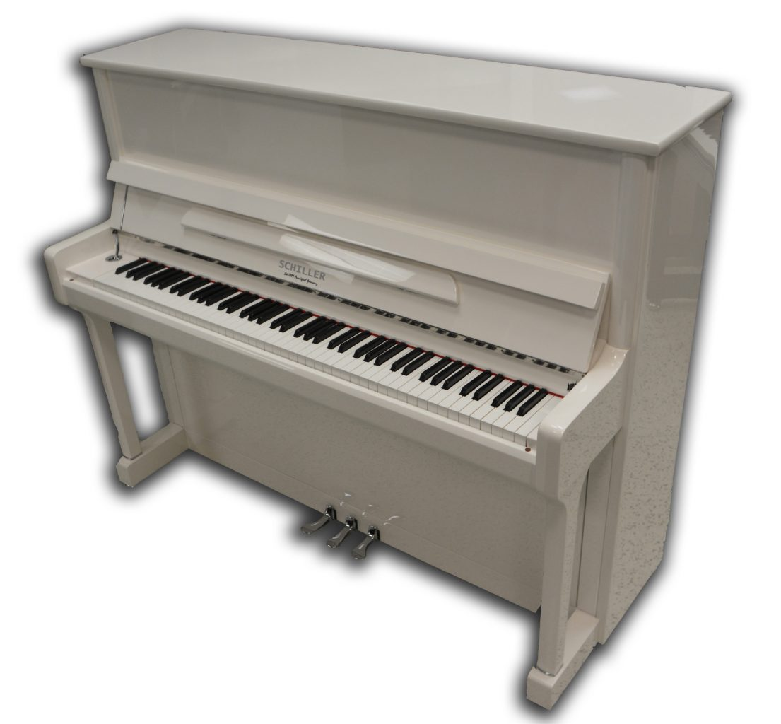 Schiller Concert 48 Upright Piano White