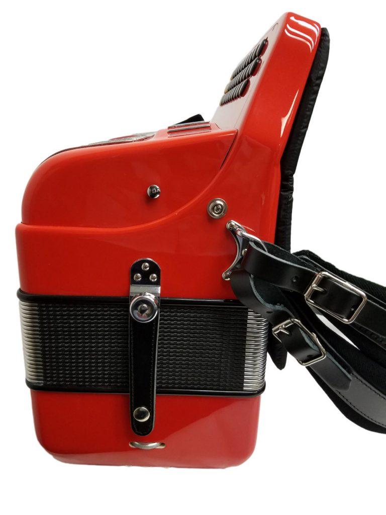 Excalibur Crown Custom 5 Switch Button Accordion Ferrari Red