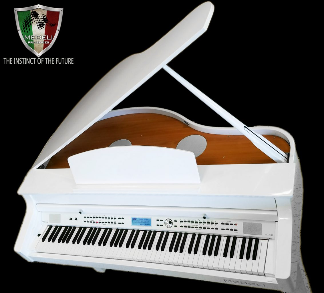 Medeli Digital Grand 510 Piano White Polish