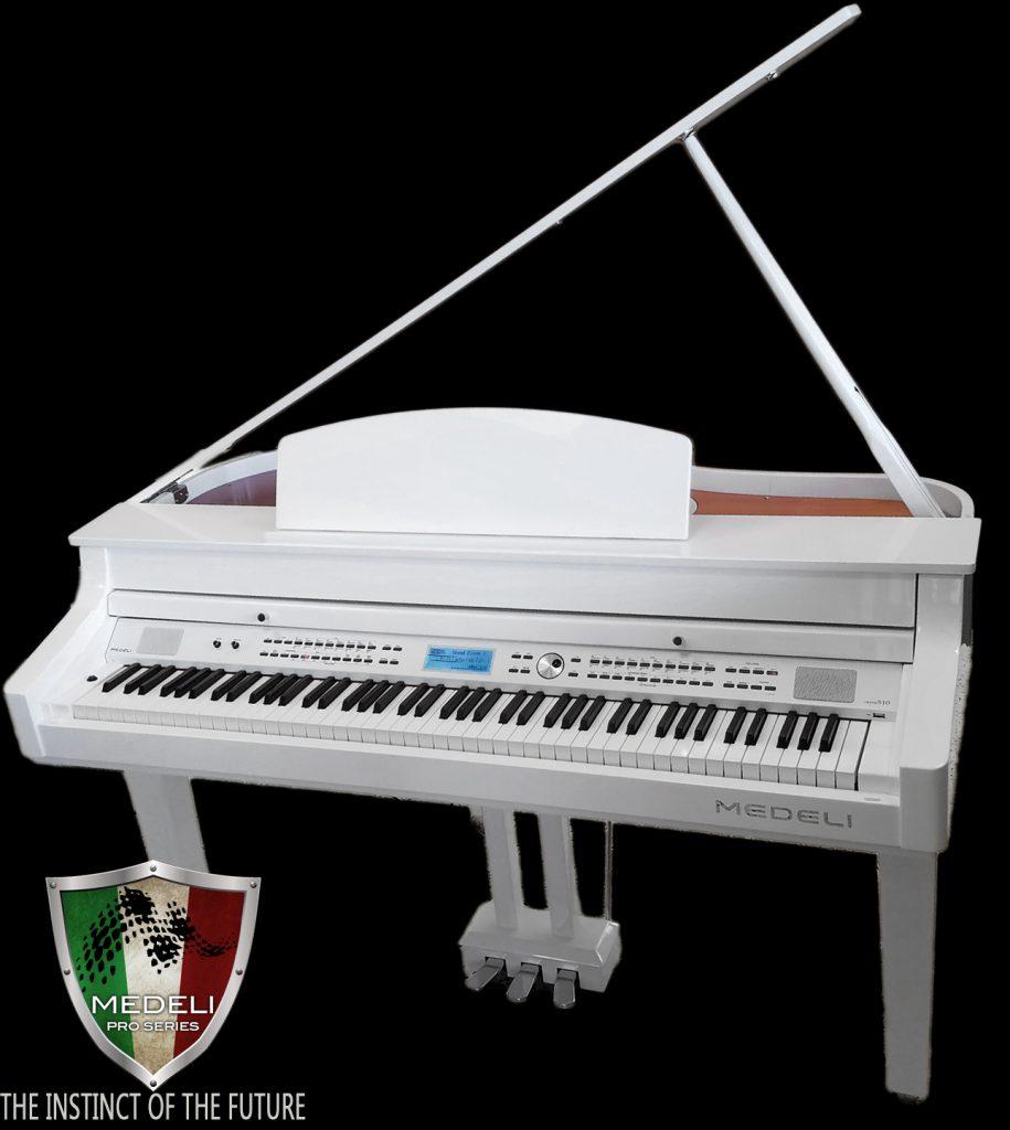 Medeli Digital Grand 510 Piano White Polish