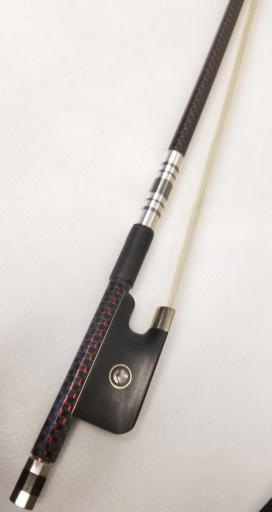 Carbon Fiber Violin Bow by Vienna Strings Red