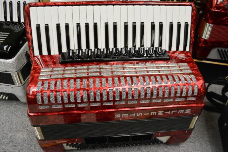 Weltmeister Saphire Piano Accordion Red Polish