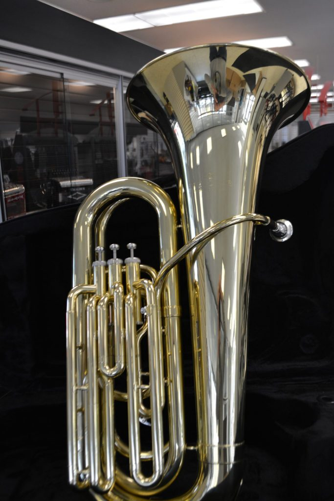 Schiller 3 Valve Upright Tuba Gold