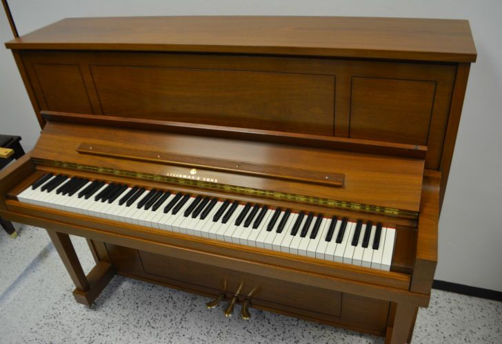 STEINWAY UPRIGHT PIANO MODEL 45 WALNUT SATIN