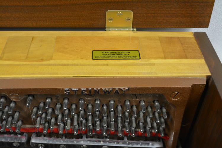 STEINWAY UPRIGHT PIANO MODEL 45 WALNUT SATIN