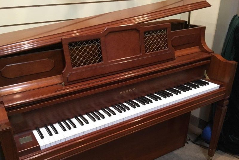 Samick Decorator Upright Grand Walnut