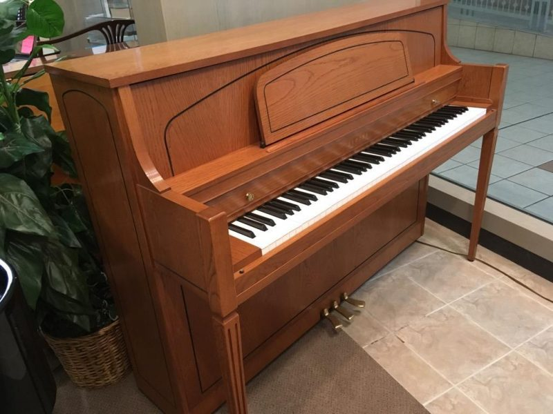 Yamaha Upright Piano Statesman Oak