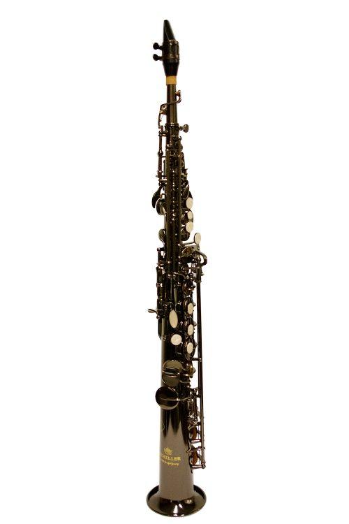 Schiller American Heritage 400 Soprano Saxophone Black Nickel