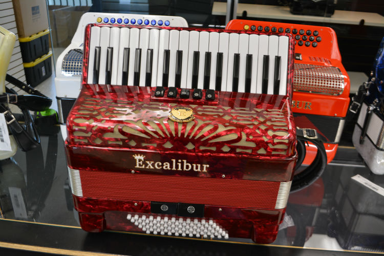 Used Excalibur Crown 72 Bass Piano Accordion