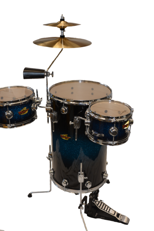 Trixon Elite Cocktail Drumset Blue Burst Sparkle