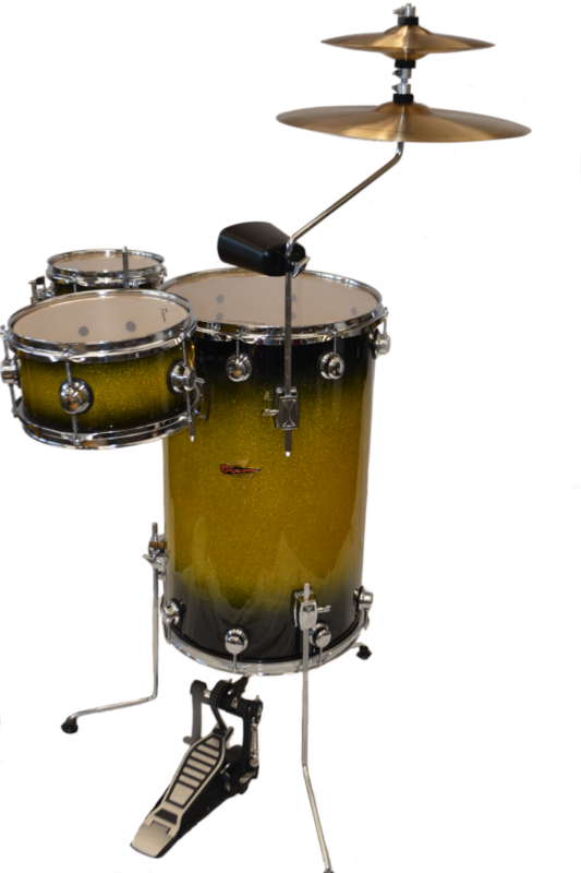 Trixon Elite Cocktail Drum Set Green Sparkle