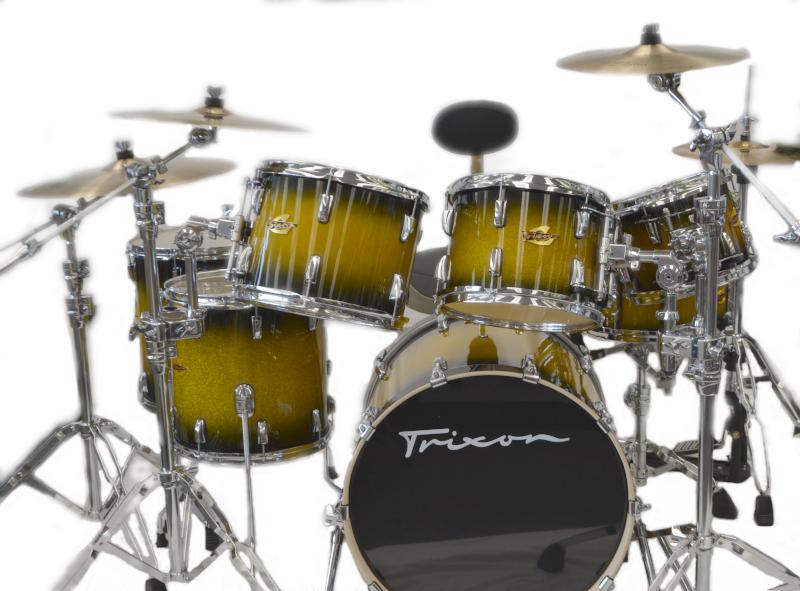 Trixon 7pc Elite Performer Drum Set Green Sparkle