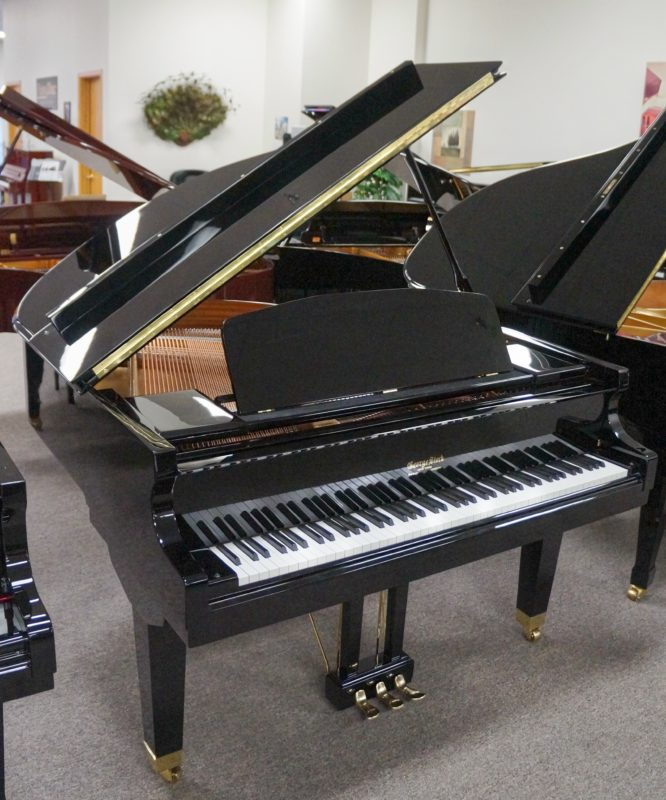 George Steck Grand Piano Black Polish