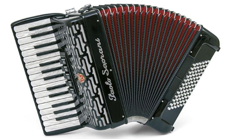 Paolo Soprani  Professionale 72 Bass 30 Note Piano Accordion