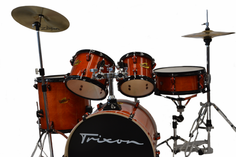 Trixon 5pc Junior Soloist Drum Set Transparent Orange