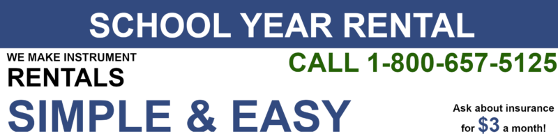 School year rentals made easy! Call 1-800-657-5125 today for more information and rent today