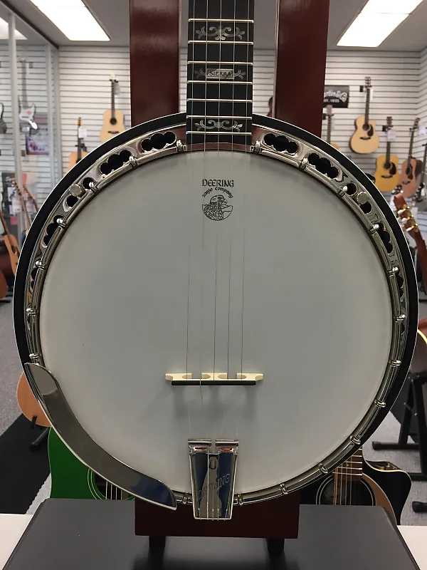 Deering Sierra Limited Edition Deluxe 5-String Banjo Natural Mahogany - Jim  Laabs Music Store