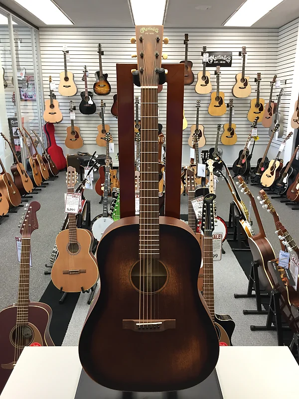 Martin DSS15M Dreadnought Streetmaster Acoustic Guitar with Case Mahogany Burst