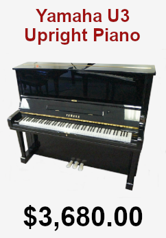 Yamaha U3 upright piano on sale for 3,680.00