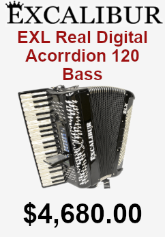 excalibur exl real digital accordion 120 bass on sale for $4,680.00