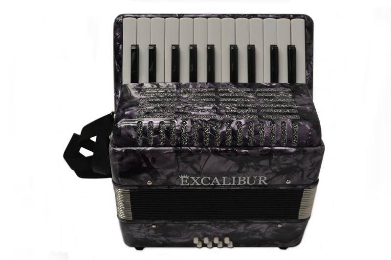 Excalibur Premier 22 Piano Accordion - Purple