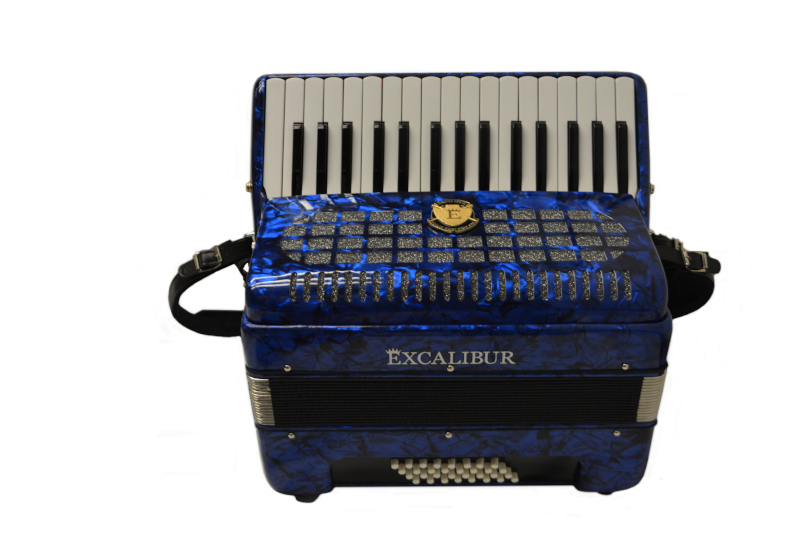Excalibur Super Classic Ultralight 32 Bass Piano  Pro Accordion - Blue