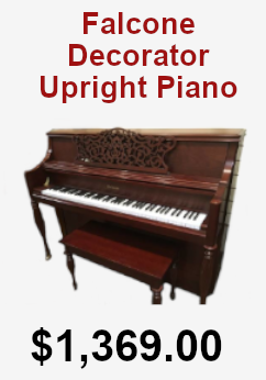 Falcone Decorator upright piano on sale for 1,369.00