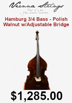 Vienna strings hamburg 3/4 bass on sale for $1,285.00