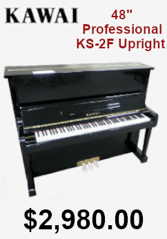 Kawai 48in professional ks-4f upright piano on sale for 2,980.00