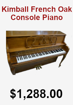 Kimball french oak console piano on sale for 1,288.00