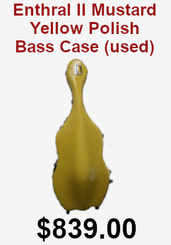 Enthral II mustard yello polish bas case used on sale or $839.00