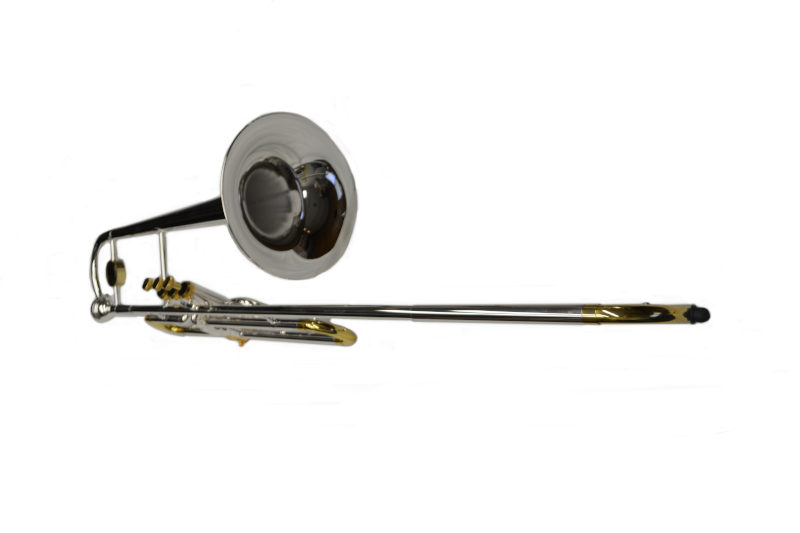 Schiller American Heritage Bb Valve Trombone - Silver and Gold