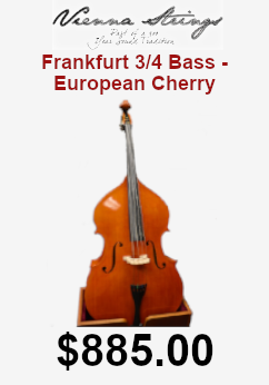 vienna strings frankfurt 3/4 bass - european cherry finish on sale for 885.00